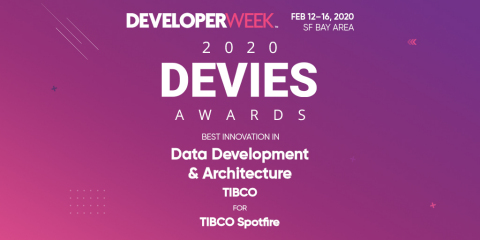 TIBCO Receives 2020 DEVIES Award for Data Development and Architecture (Graphic: Business Wire)
