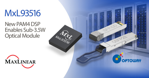 New PAM4 DSP Enables Sub-3.5W Optical Module (Photo: Business Wire)