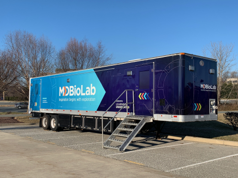 MdBioLab, the flagship of Learning Undefeated's disaster recovery education program, is a self-contained 45-foot mobile STEM laboratory that provides temporary teaching space, specialized science equipment and curriculum for communities impacted by disasters. (Photo: Business Wire)