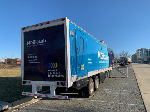 MdBioLab is fully self-contained with its own power and water supply and can accommodate classes of up to 32 students. (Photo: Business Wire)