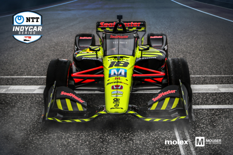 Mouser Electronics is proud to once again sponsor the Dale Coyne Racing with Vasser-Sullivan race team throughout the entire 2020 NTT IndyCar Series with valued supplier Molex. (Photo: Business Wire)