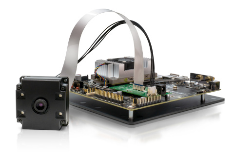 Helios Flex Time-of-Flight MIPI Module connects to Nvidia Jetson TX2 (Photo: Business Wire)