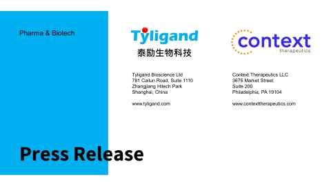 Tyligand Bioscience and Context Therapeutics Sign Strategic Development Agreement for Onapristone ER (Graphic: Business Wire)