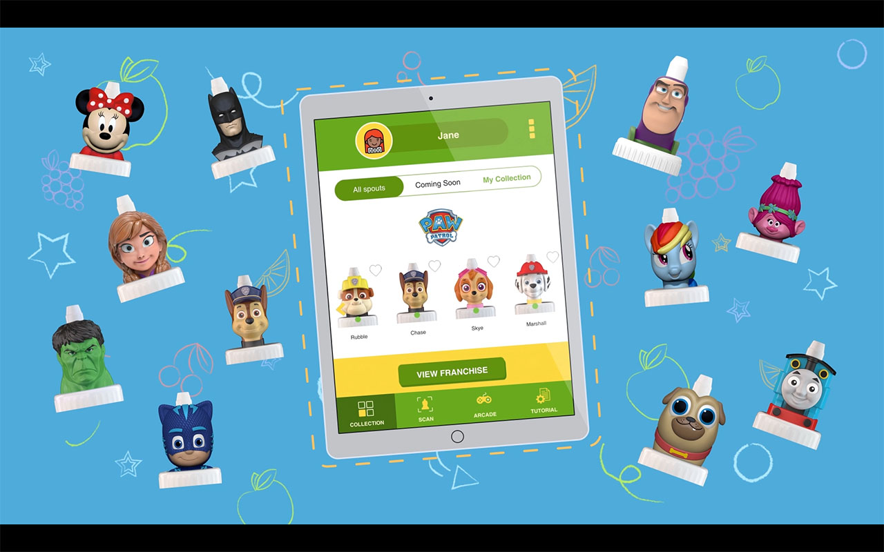 The new good2grow Collectors App features an in-app arcade, the opportunity to earn badges with unique rewards, and a scanning feature to capture the collectable tops.
