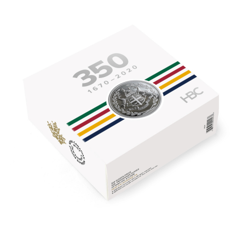 The coin is packaged in a custom HBC-branded beauty box, complete with HBC's iconic stripes. (Photo: Business Wire)