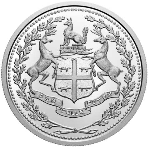 The 2020 $10 Fine Silver Coin – 350th Anniversary of Hudson's Bay Company – has a limited mintage of 10,000 and retails for $44.95. (Photo: Business Wire)