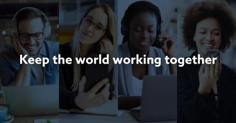 For updates on how Lifesize and Serenova are supporting businesses through the Coronavirus pandemic, follow #KeepTheWorldWorking on Twitter and LinkedIn. (Graphic: Business Wire)