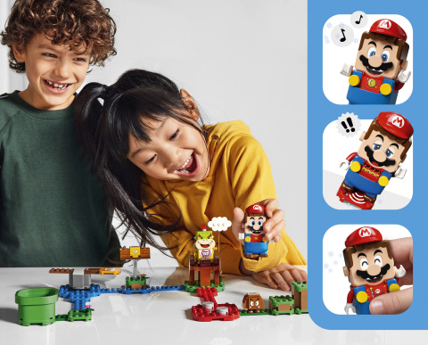 Kids playing with LEGO Super Mario incl. graphics (Photo: Business Wire)
