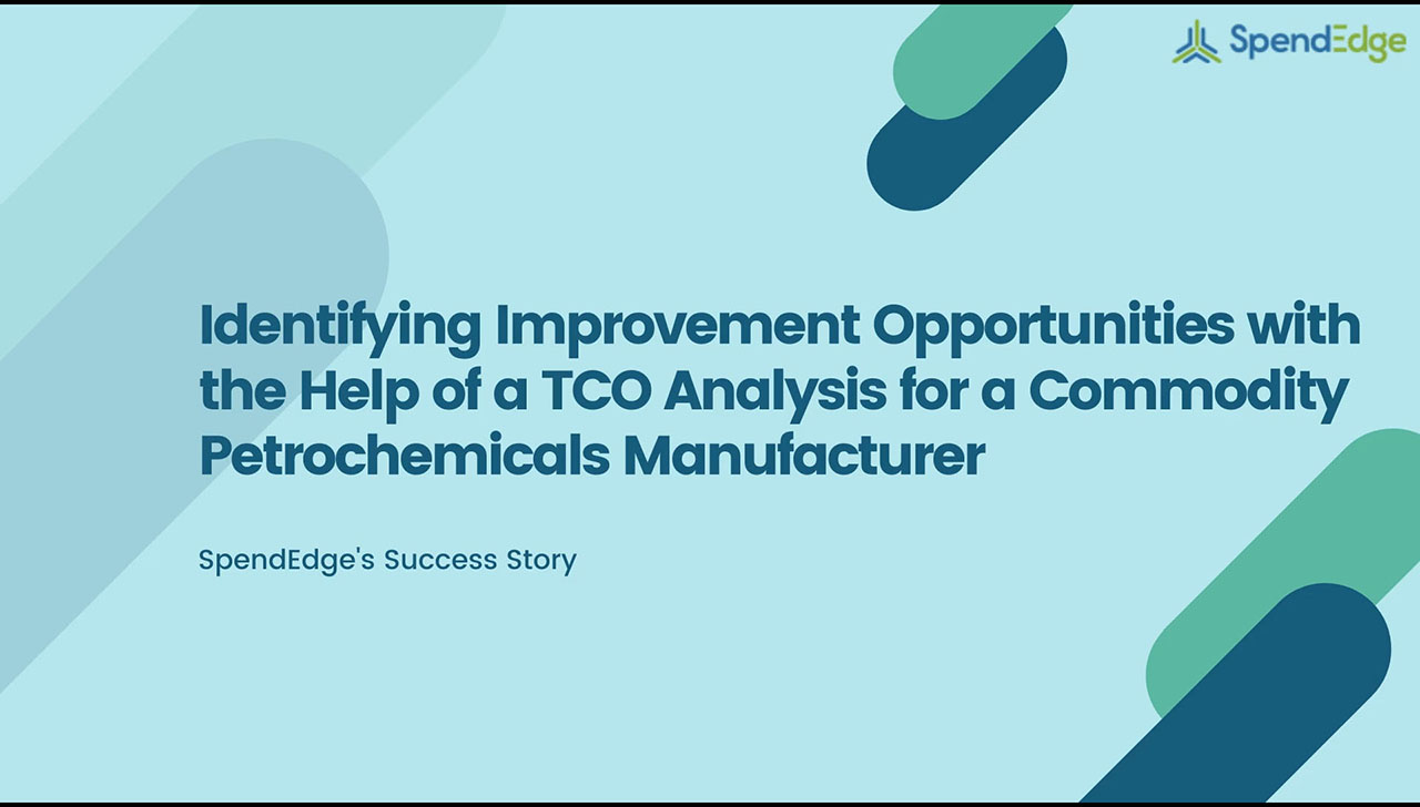 Identifying Improvement Opportunities with the Help of a TCO Analysis for a Commodity Petrochemicals Manufacturer.