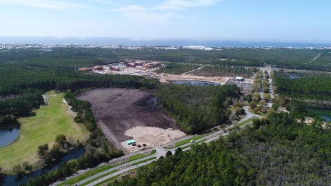 Site work has started on the planned townhomes in the Watersound Origins community. (Photo: Business Wire)