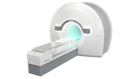 The RefleXion™ X1 is the only machine that combines high-quality CT imaging with a linear accelerator for better tumor localization. The groundbreaking design rotates up to 60 times faster than other linear accelerators and modulates the radiation dose from 100 points per beam station for precise dose delivery. (Photo: Business Wire)