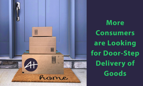 AxleHire has seen the volume of home deliveries double in just the last five days as businesses are turning to AxleHire to meet the dramatically increased need for same or next day delivery in response to this crisis. (Graphic: Business Wire)