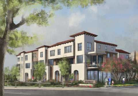 Preliminary rendering of two- and three-story residences in Poway, Calif. (Photo: Business Wire)