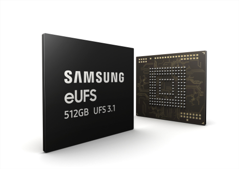 Samsung 512GB eUFS 3.1 mobile storage (Graphic: Business Wire)