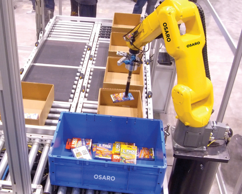 OSARO builds hardware-agnostic AI software that enables robots to function in a variety of environments and perform a diverse set of tasks. (Photo: Business Wire)