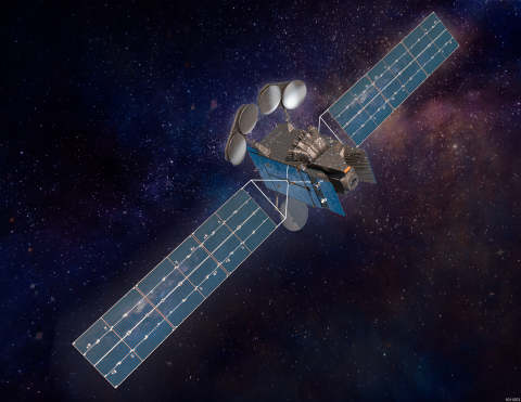 A rendering of Intelsat 40e, courtesy of Maxar Technologies. (Photo: Business Wire)