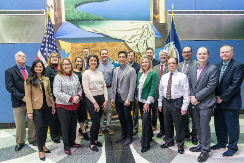 Oklo representatives with the U.S. Nuclear Regulatory Commission staff and the Nuclear Reactor Regulation management team. (Photo: Oklo Inc.)