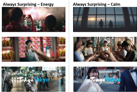 """Scenes from """"Tokyo Tokyo Promotion Video Always Surprising"""" (Graphic: Business Wire)"""