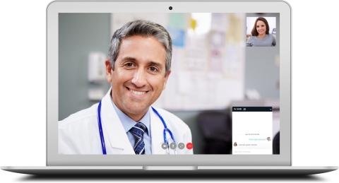 Doxy.me患者界面。(照片:美国商业资讯)