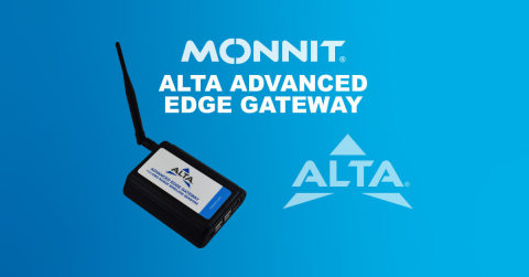 Monnit's ALTA Advanced Edge Gateway provides a secure sensor-to-server link for IoT data. (Graphic: Business Wire)