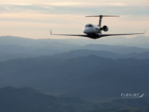 Aircraft like the Embraer Phenom 300 super light jet (pictured), will transport Flexjet pilots to and from their flight assignment locations. The private flight provider is suspending reliance on commercial airlines for transporting their pilots to limit exposure to groups during the ongoing coronavirus pandemic. (Photo: Business Wire)