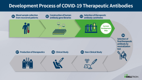 Development Process of COVID-19 Therapeutic Antibodies (Graphic: Business Wire)