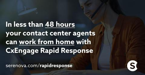 Serenova provides a pathway to cloud contact centers that can be implemented in 48 hours or less. (Graphic: Business Wire)