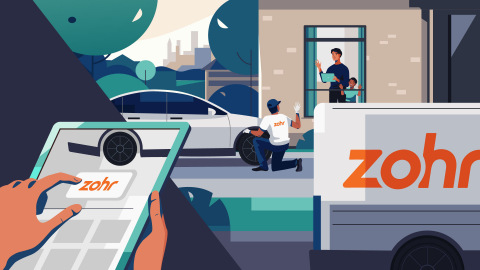 Zohr's on-demand tire services were designed for minimal human contact. Technicians can safely provide services while practicing social distancing. (Graphic: Business Wire)