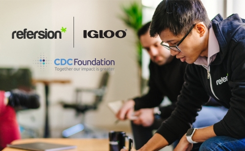 Refersion is furthering Igloo's commitment to donate to the CDC Foundation's Coronavirus Response Fund. (Photo: Business Wire)