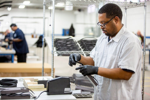 Ford, in cooperation with the UAW, will assemble more than 100,000 critically needed plastic face shields per week at a Ford manufacturing site to help medical professionals, factory workers and store clerks. In addition, Ford is also working with 3M to increase production of Powered Air-Purifying Respirators for healthcare workers and GE to expand production of a simplified version of GE Healthcare's existing ventilator design to support patients with difficulty breathing. (Photo: Business Wire)