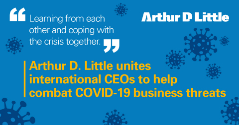 Arthur D. Little has initiated an international platform for CEOs to exchange crisis management experiences while dealing with COVID-19. (Graphic: Business Wire)