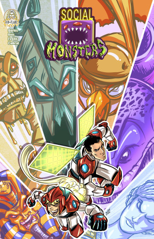 """""""Social Monsters"""" is an all-ages title for younger readers from Neymar Jr. Comics. One of its lead artists, Dustin Evans, will be conducting a free two-part drawing master class on Facebook Live on March 25th. (Photo: Business Wire)"""