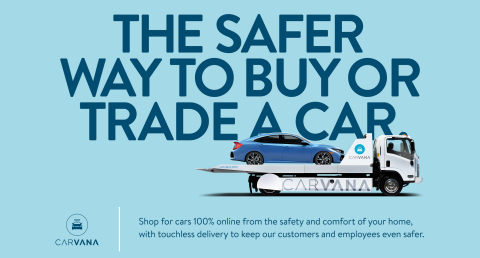 To further enhance its 100 percent online shopping experience, Carvana is now offering Touchless Delivery to customers that want to buy or trade a car. (Graphic: Business Wire)