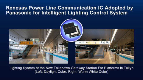 Renesas Power Line Communications IC Adopted by Panasonic for Intelligent Lighting Control System (Graphic: Business Wire)