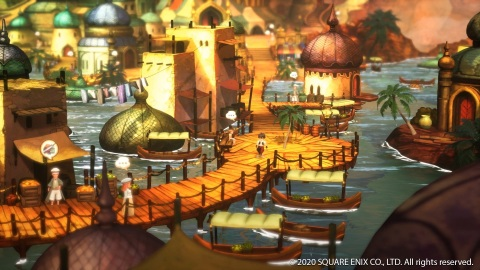 In this follow-up to the original BRAVELY DEFAULT, four new Heroes of Light embark on a grand and glorious mission guided by the elemental crystals. A free demo is available today! (Photo: Business Wire)