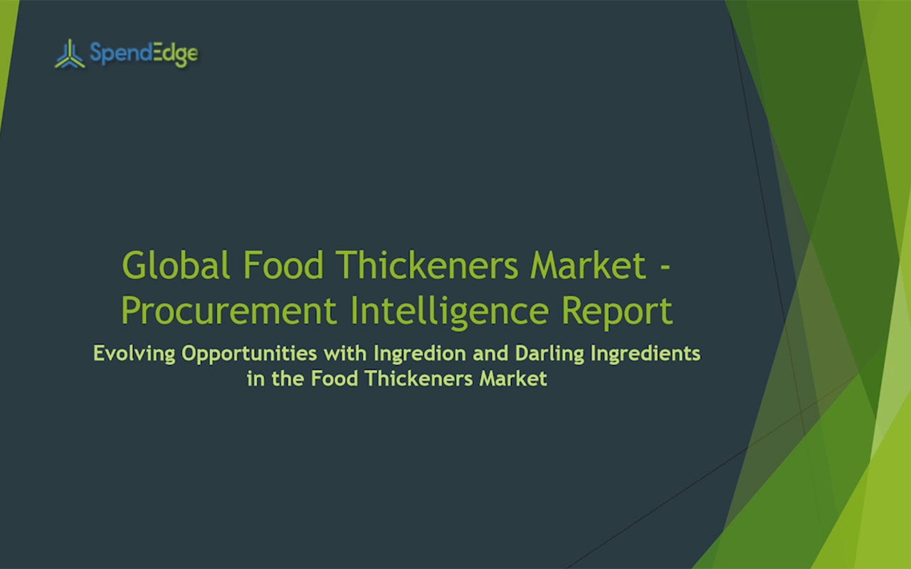 SpendEdge, a global procurement market intelligence firm, has announced the release of its Global Food Thickeners Market - Procurement Intelligence Report.