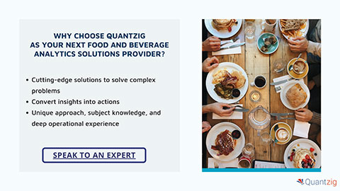 Why choose Quantzig as your next food and beverage analytics solutions provider?