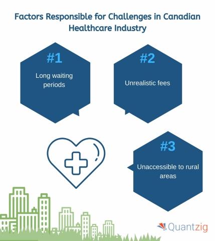 Factors Responsible for Challenges in Canadian Healthcare Industry (Graphic: Business Wire)