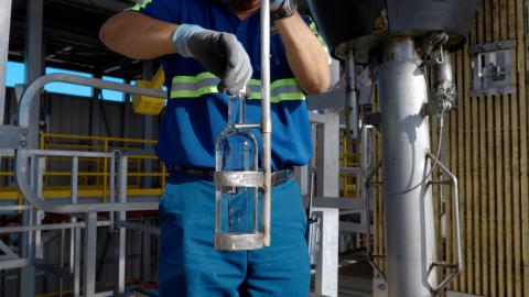 百加得波多黎各酒廠供應乾洗手原料——圖片由百加得提供