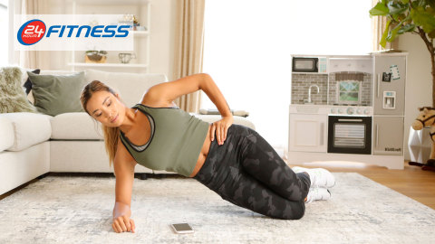 Members workout with 24GO, the 24 Hour Fitness personalized fitness app (Photo: 24 Hour Fitness)