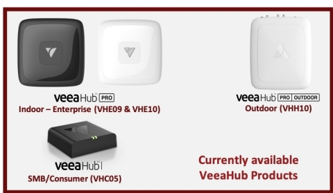 Currently Available VeeaHub Products (Graphic: Business Wire)