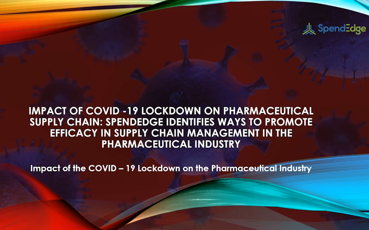 Impact of the COVID-19 Lockdown on the pharmaceutical industry