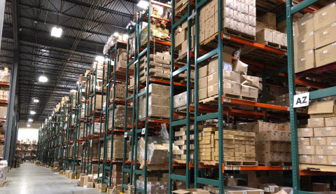 A Post Earthquake Picture of the American Crafts' Warehouse Located Just Miles Away from the Earthquake Epicenter. It Utilizes the Stronger, Safer, Smarter and More Cost-Effective TubeRack System. (Photo: Business Wire)