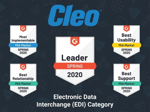 G2 recognition of Cleo - Spring 2020 (Graphic: Cleo)