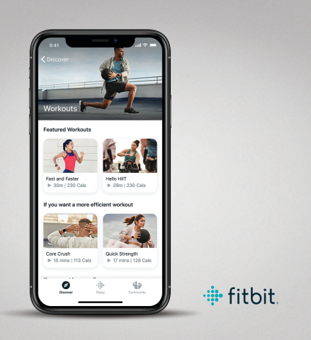 Fitbit Premium Workouts (Photo: Business Wire)