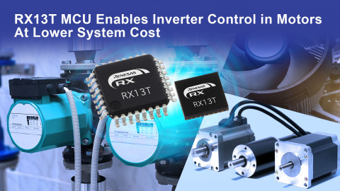 RX13T MCU Enables Inverter Control in Motors at Lower System Cost (Graphic: Business Wire)