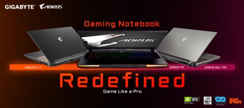 Präsentation derGIGABYTE-Notebooks für Gaming- und Content-Entwickler. Vorbestellungen sind ab heute möglich. (Photo: Gigabyte)