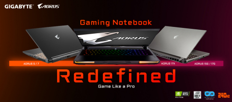 Unveiling of GIGABYTE gaming and content creator notebooks. Pre-order starting today. (Photo: Gigabyte)
