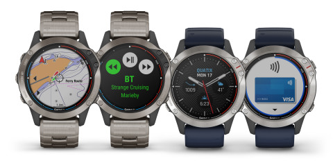 Garmin® introduces quatix® 6 marine GPS smartwatch series with ...