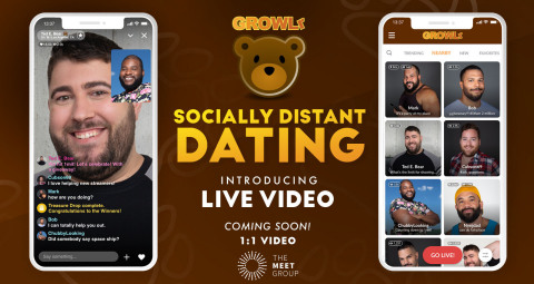 GROWLr To Launch Live Video Dating to Respond to Pandemic (Graphic: Business Wire)